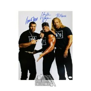 NWO Hulk Hogan, Scott Hall, Kevin Nash Autographed 16x20 Photo - JSA COA