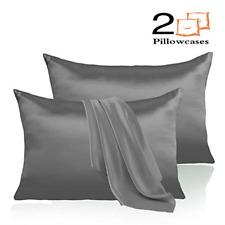 Leccod 2 Pack Silk Satin Pillowcase for Hair and Skin Cool Super Soft and Luxury