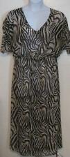 Victoria Secret misses sz M L black zebra striped sequin long maxi dress j182