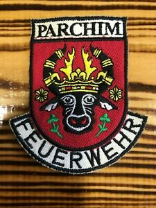GERMANY PATCH FEUERWEHR FIRE FIREFIGHTER PARCHIM - ORIGINAL!