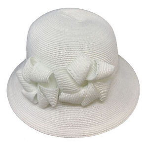 DRESSHAT Church Durby Double Bow Tied Safari Hat