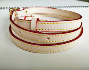 """0.35""""/0.47""""/0.6""""/ 0.7"""" real nature vachetta leather crossbody strap replacement"""