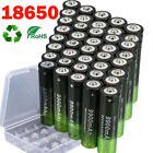 40* Battery 3.7V Li-ion Rechargeable Batteries Cells For Flashlight Headlamp Lot