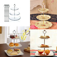 3 Tier Hardware Crown Cake Plate Stand Handle Fitting Wedding Party  AY