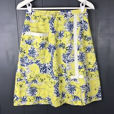 "Vintage The Lilly Skirt Lilly Pulitzer Koala Print Yellow Blue White 27"" Waist"