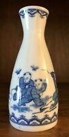 VINTAGE CHINESE BLUE & WHITE PORCELAIN BUD VASE MADE IN CHINA 5""