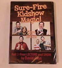 Magic DVD- Sure-Fire Kidshow Magic by David Ginn.