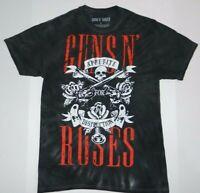 Official Guns N' Roses Band Appetite For Destruction Gray Tie Dye T Shirt New