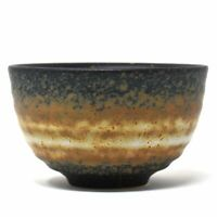 Japanese Traditional Handcrafted Brown Nenrin Matcha Green Tea Bowl Matchawan