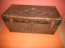Vintage PSE&G PARTS KIT Tool Box 23x11x11 riveted hard fiber non metalic