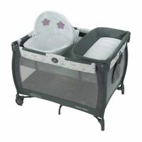 Graco Pack 'n Play Care Suite Playard - Maxton Infant to Toddler Grey/ Purple