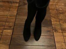LK Bennett black leather suede knee high boots UK 3 36