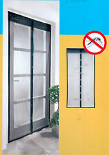 Zanzariera magnetica per balcone chiusura automatica cm 120x240 Nera
