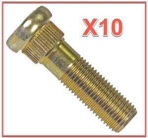 10 Wheel Lug Studs Replace SUBARU OEM # 6105661 Front/Rear