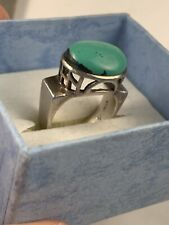 EUC SILPADA Sterling Silver Turquoise Statement Ring Size 7