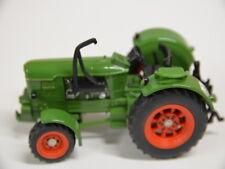 3 ) Siku Farmer Si-ku 120 grüner Traktor Landwirtschaft - Auspuff verbogen