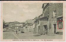 ABBADIA S.SALVATORE SIENA VETRINA CON CARTOLINE IN VIA XX SETTEMBRE 1938 BELLA !