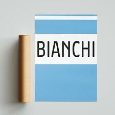 Bianchi Cycling Team Jersey Poster Print A4 A3 A2 Wall Art Tour de France