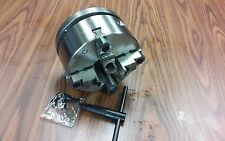 """8"""" 4-Jaw Self-Centering  Lathe Chuck top&bottom jaws w. 1-1/2""""-8 adapter-new"""