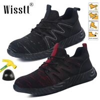 Steel Toe Shoes Mens Womens Safety Work Shoes Lightweight Indestructible Hiking