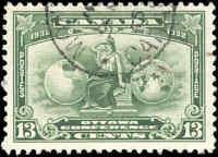 1932 Used Canada F-VF Scott #194 13c Economic Conference Stamp