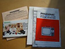 PANASONIC PORTABLE COLOR TV OPERATING INSTRUCTIONS MODEL CT-601P & 601PC