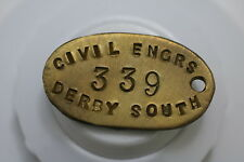 UK GB DERBY SOUTH CIVIL ENIGINEERS TOKEN A73 #9516