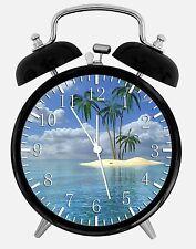 "Palm tree Beach Alarm Desk Clock 3.75"" Room Decor X27 Nice for Gifts wake up"