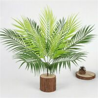 9Head Artificial Fern Bouquet Palm Leaves Green Plastic Plants Garden Home Decor