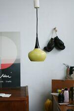 TRUE VINTAGE KAISER Leuchten DECKENLAMPE 60er Lampe Metall gelb - olive 60ies