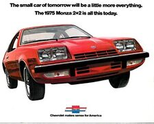 1975 Chevrolet Monza 2+2 Coupe Original Sales Brochure Catalog