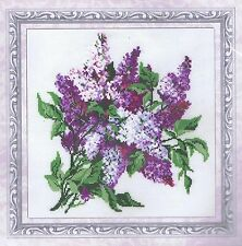 Floral Lila Cross Stitch Kit Riolis