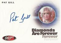 "James Bond 50th Anniversary - A214 Pat Gill ""Shady Tree's Acorn"" Autograph Card"