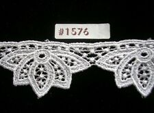2.5y Stunning Venise lace trim white Baby Bridal #1576