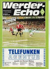 BL 87/88 SV Werder Bremen - 1. FC Kaiserslautern