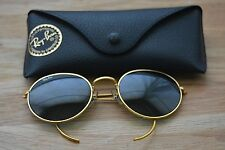 Ray Ban Gold Tone Wire Baucsh & Lomb UV Round Aviator Sunglasses Vintage + Rad!