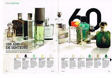 PUBLICITE ADVERTISING 094 2008 les 100 ans de parfums pour Hommes (4 pages)