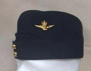 Regulation RAF Officers Side Cap / Side Hat Red Lining with velvet