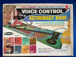 1969 REMCO Voice Control Astronaut Base Missile Launches New Old Stock in Box