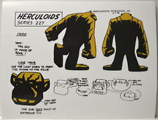 HERCULOIDS MODEL SHEET PRINT - IGOO w Heads B/W Hanna Barbera