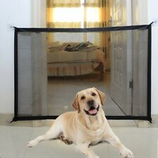 """43.3""""x28.3"""" Portable Folding Pet Gate Mesh Magic Gate for Dogs,Baby Safety Fence"""