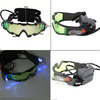 Green Lens Adjustable Elastic Band Night Vision Goggles Glasses Eyeshield DC