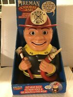 Firefighter Fireman COOKIE JAR Animated Cookie Chief Talks When You Get Cookie