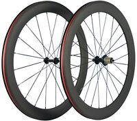 Le Cycle De Pneu De Roues De Carbone De Vélo De Route De 60mm Roule 700C Shimano