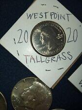 2020 W Tallgrass Prairie National, UNC Quarter West Point . Hard to Find!  1039A