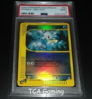 PSA 9 MINT Horsea 85/147 Aquapolis Set REVERSE HOLO Pokemon Card