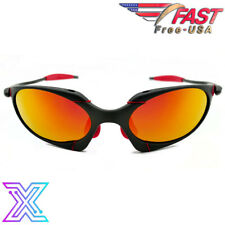X-Romeo Metal Frame Sunglasses with UV400 Polarized Ruby Iridium Lenses - USA