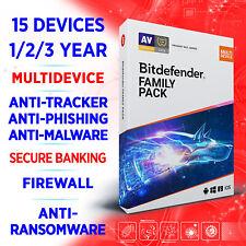 Bitdefender Family Pack 2021 15 Geräte / 1-2-3 Jahre, Aktivierungscode
