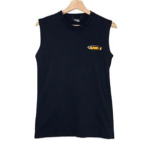 AND1 Basketball Sleeveless Mens Black T-Shirt Size Small