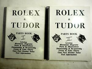 Rolex & Tudor Parts Book 1 & 2 Vintage Watchmakers Books